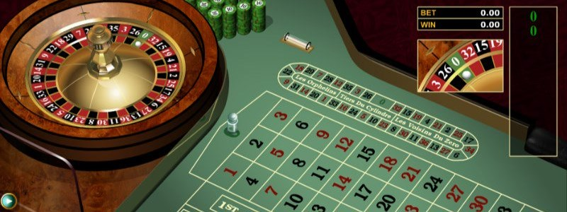 European Roulette Wheel at the microgaming casino