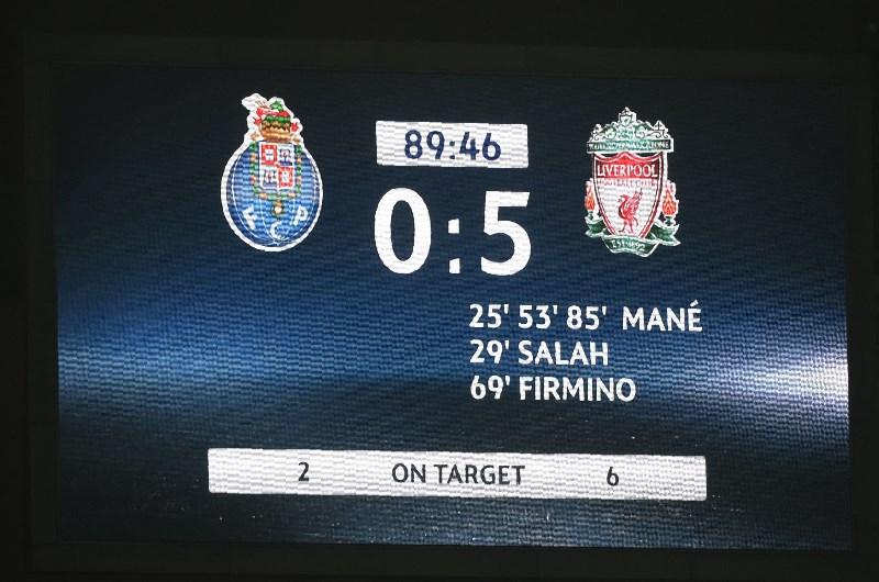 Liverpool 5-0 porto