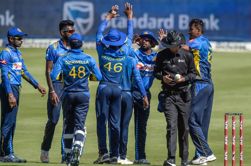Sri Lanka cricket team celebrating
