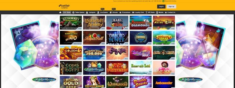 Betfair Casino NJ Homepage