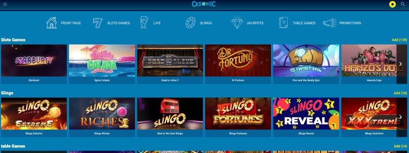 Casonic Casino Home