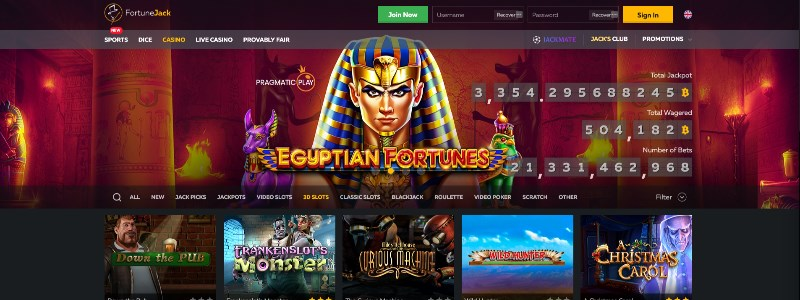 Fortune Jack Casino Homepage