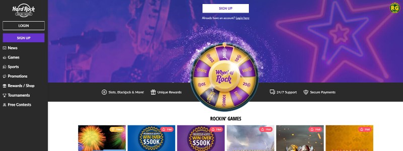Hard Rock Casino Home
