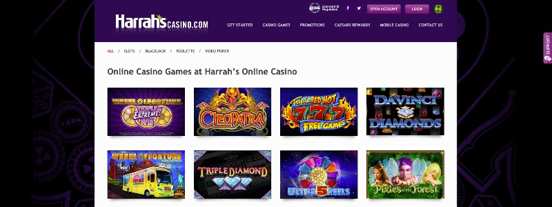 Harrah's Casino Home Page