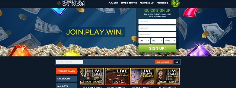 Mohegan Sun Online Casino Home
