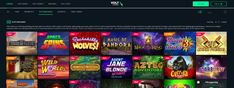 Volt Casino Home