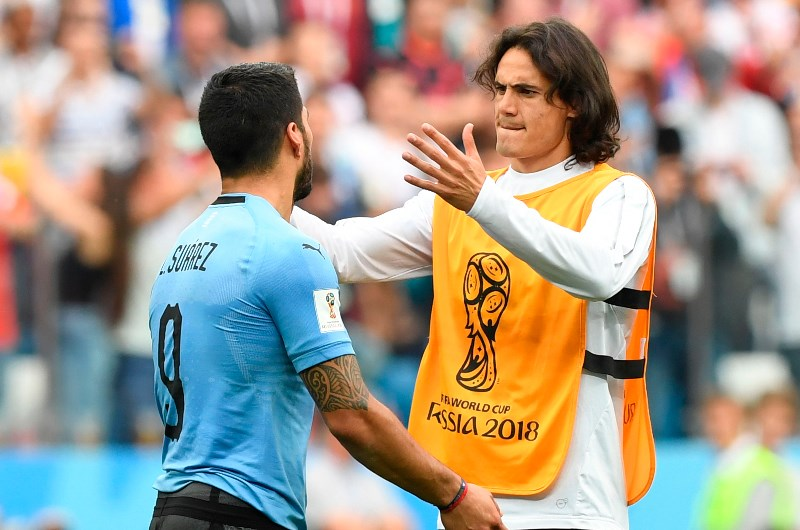 Luis Suarez and Edinson Cavani have starred for the Uruguayan national team in recent years. (Getty Images)