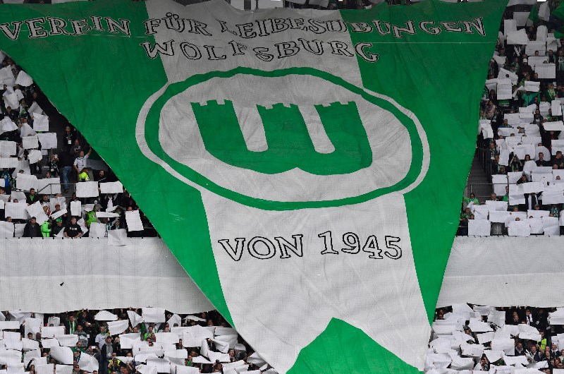 Wolfsburg supporters displaying their colours in 2018. (Getty Images)