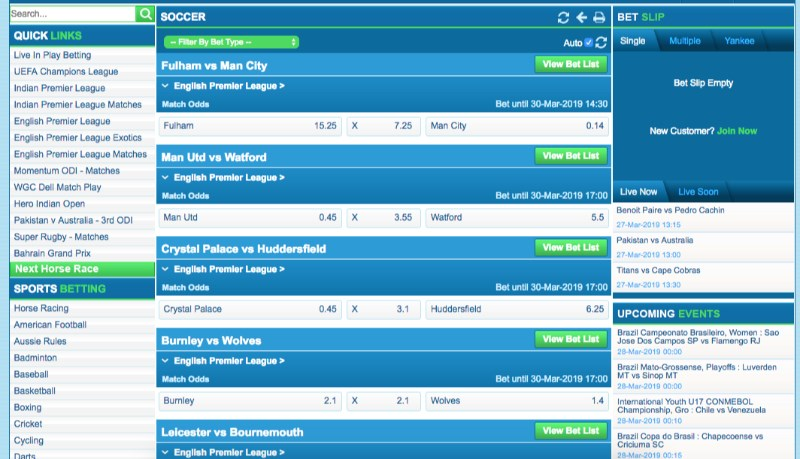 LM Bookmaker Football Betting