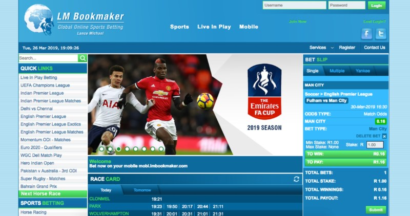 LM Bookmaker Home