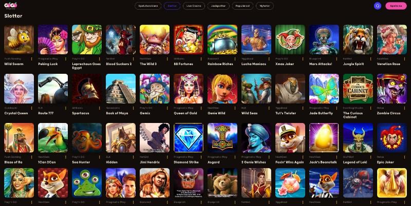 GoGo Casino Home Page