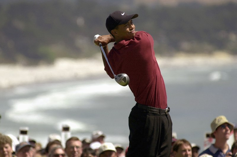 Tiger Woods pebble beach 2000