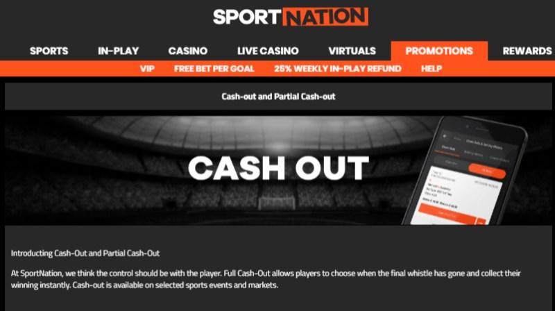 SportNation Cash Out