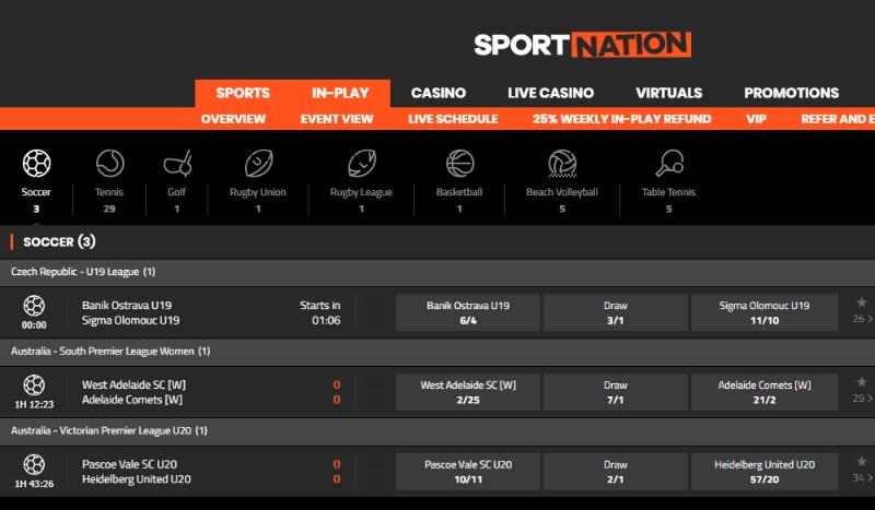SportNation Live Betting