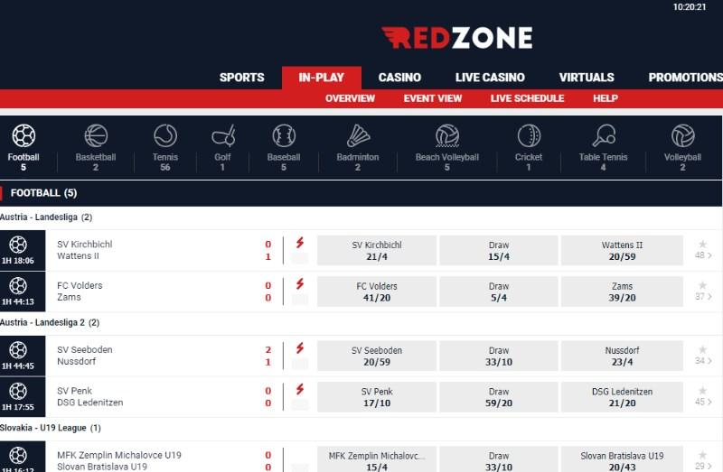 RedZoneSports Live Betting