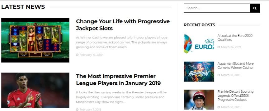 Winner News Page