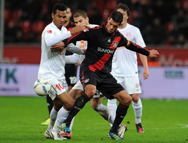 Club legend Michael Ballack in action for Bayer Leverkusen in 2012. (Getty Images)