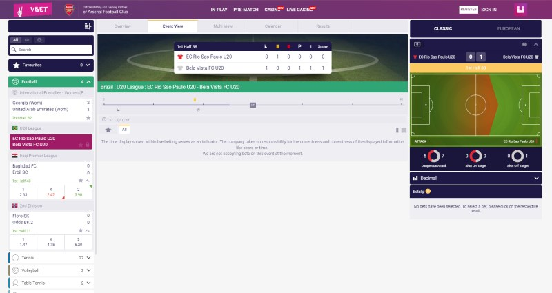 Vbet Home Page