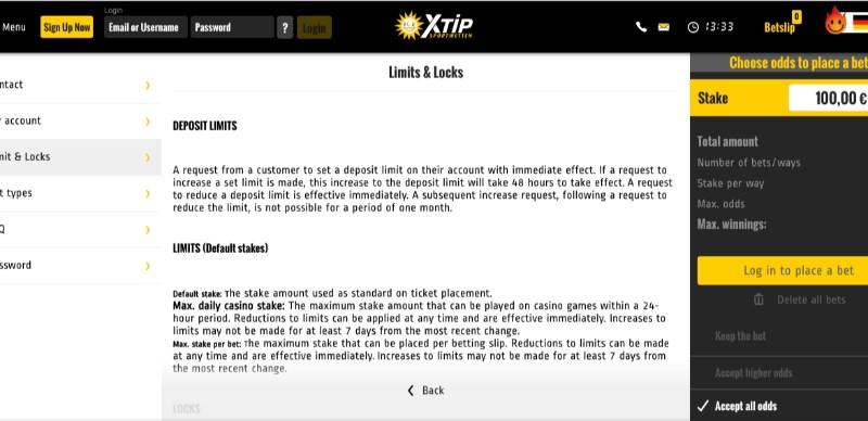 Xtip help centre