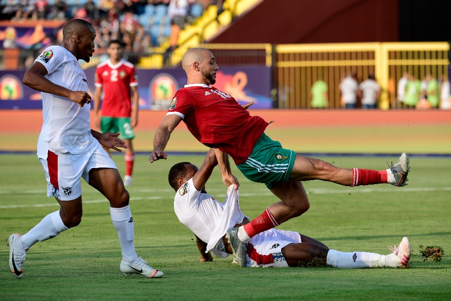 Ryan Nyambe is a particularly tough nut to crack and Namibia's solidity showed against Morocco. (Getty Images)