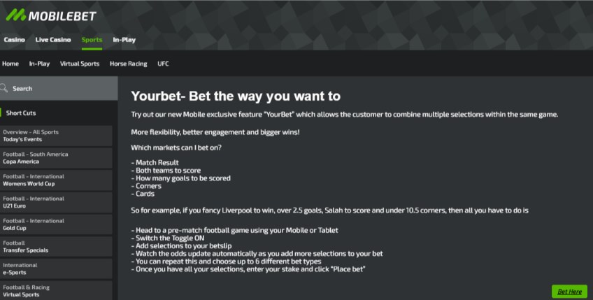 Mobilebet Your Bet