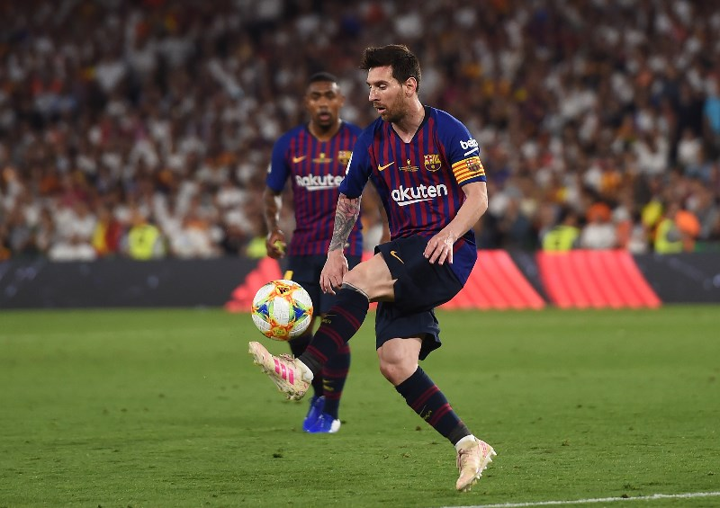 Barcelona legend Lionel Messi in action in the Spanish Copa del Rey. (Getty Images)