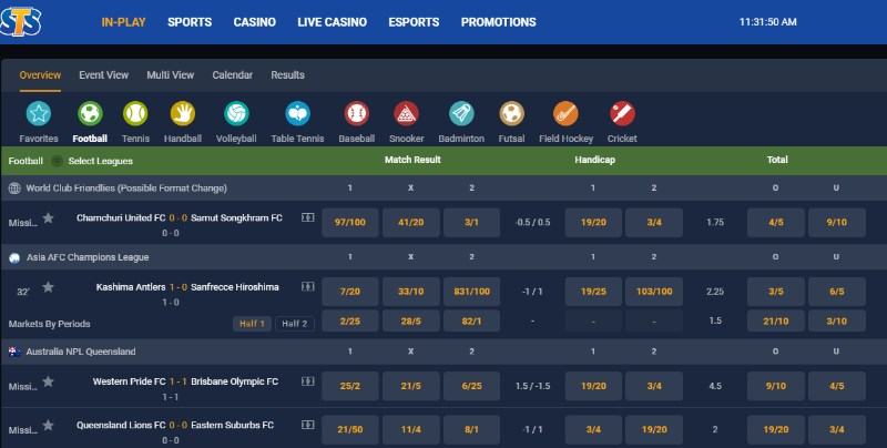 STSbet live betting