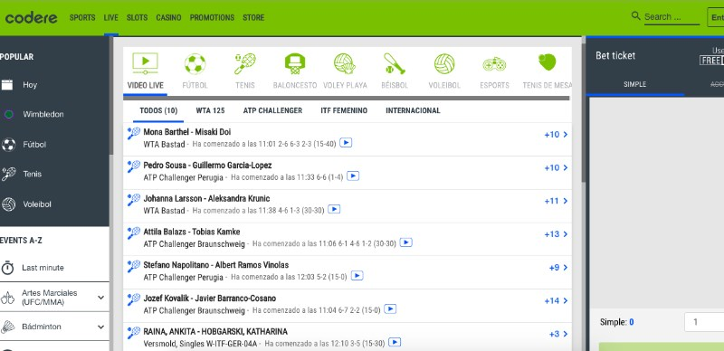 Codere Live Streaming