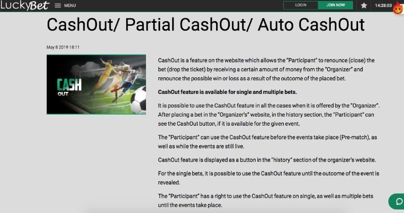 Luckybet cashout