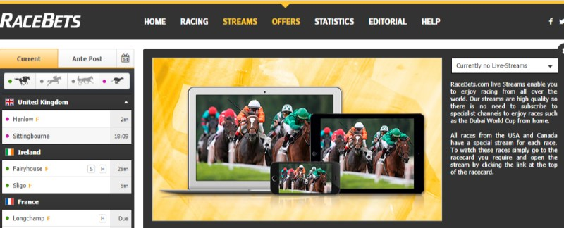 RaceBets Live Streaming