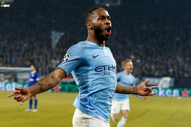 Raheem Sterling celebrate ucl