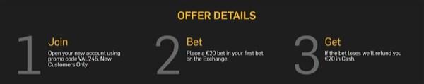 Betfair Exchange steps