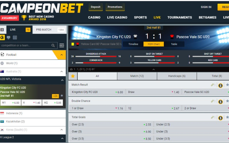 CampeonBet Live Betting
