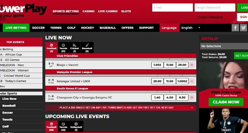 PowerPlay Live Betting