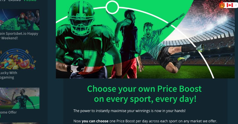 Sportsbet.io Price Boost