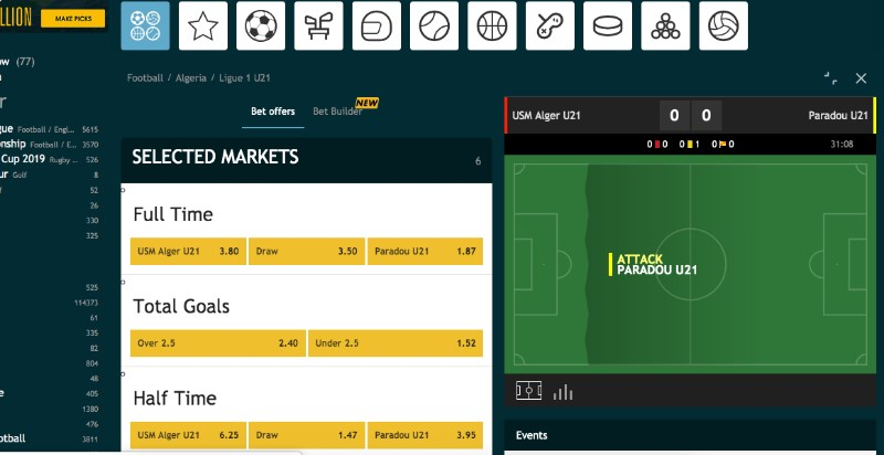 Grosvenor Sports Live Betting
