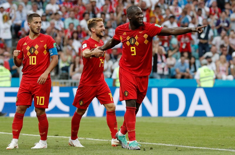 Romelu Lukaku, Eden Hazard and Dries Mertens