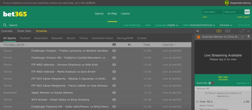 bet365 NJ live betting