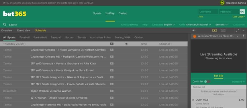 bet365 NJ live betting