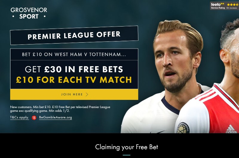 Grosvenor sports free bet bags bookmakers betting
