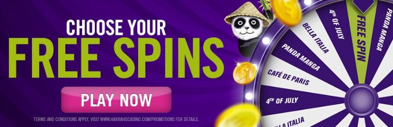 Harrahs Casino Free Spins Bonus Code Get Up To 100 Free Spins