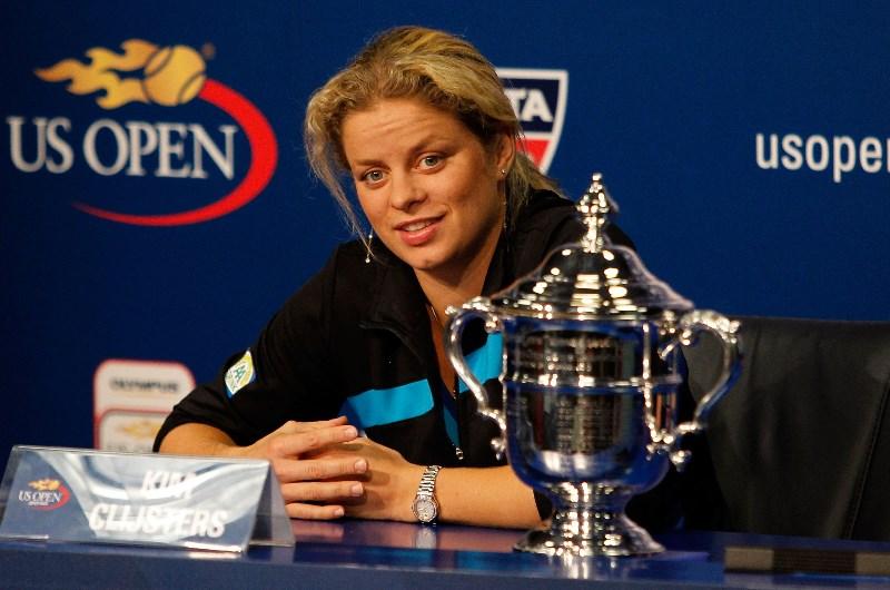 Kim Clijsters us open trophy