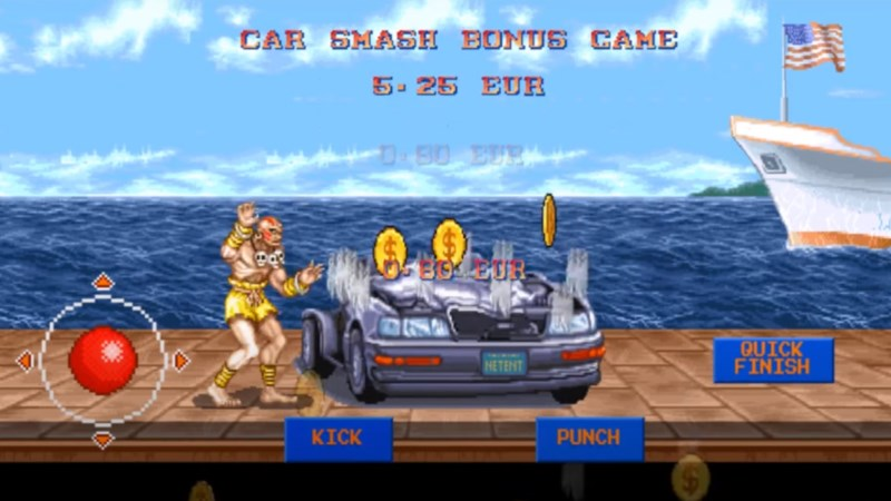 Street Fighter II Car Smash Bonus