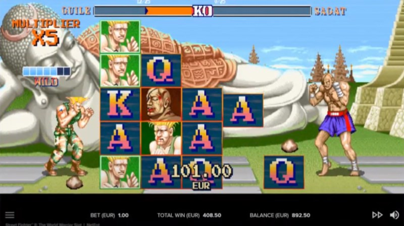 Street Fighter II Slots Sagat Fight