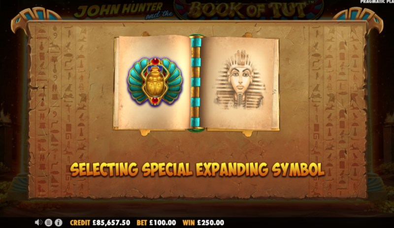 Book of Tut Expanding Symbol