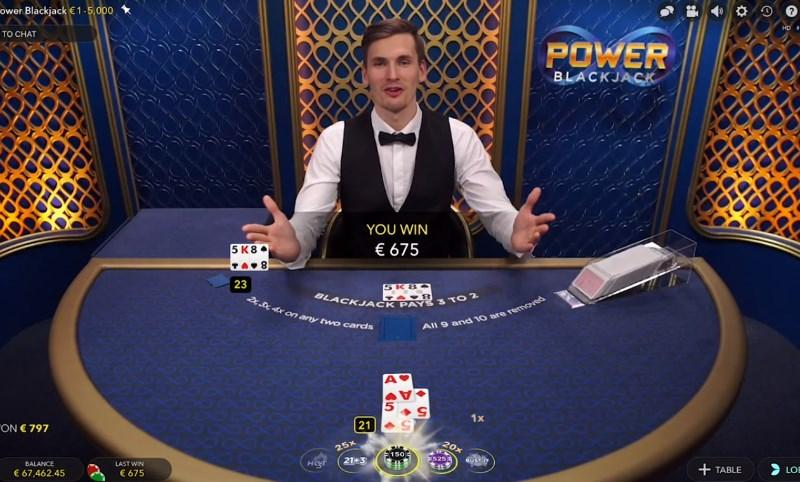 Power Blackjack In Play