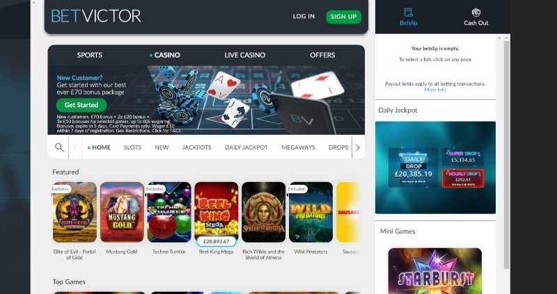 Betvictor Casino Bonus Code