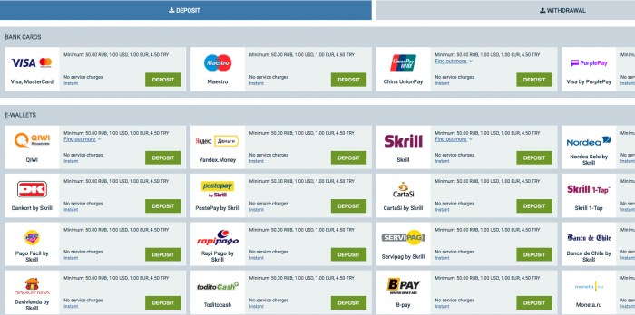 1xbet payment methods