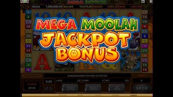 Mega Moolah Slots Win