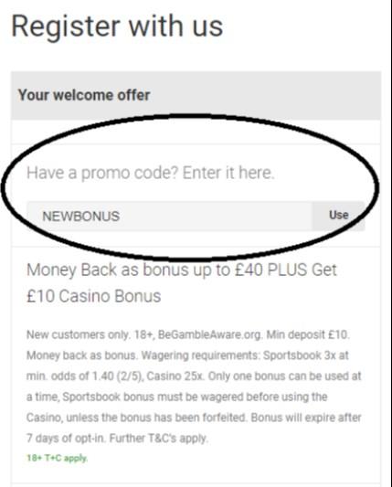 unibet bonus code NEWBONUS